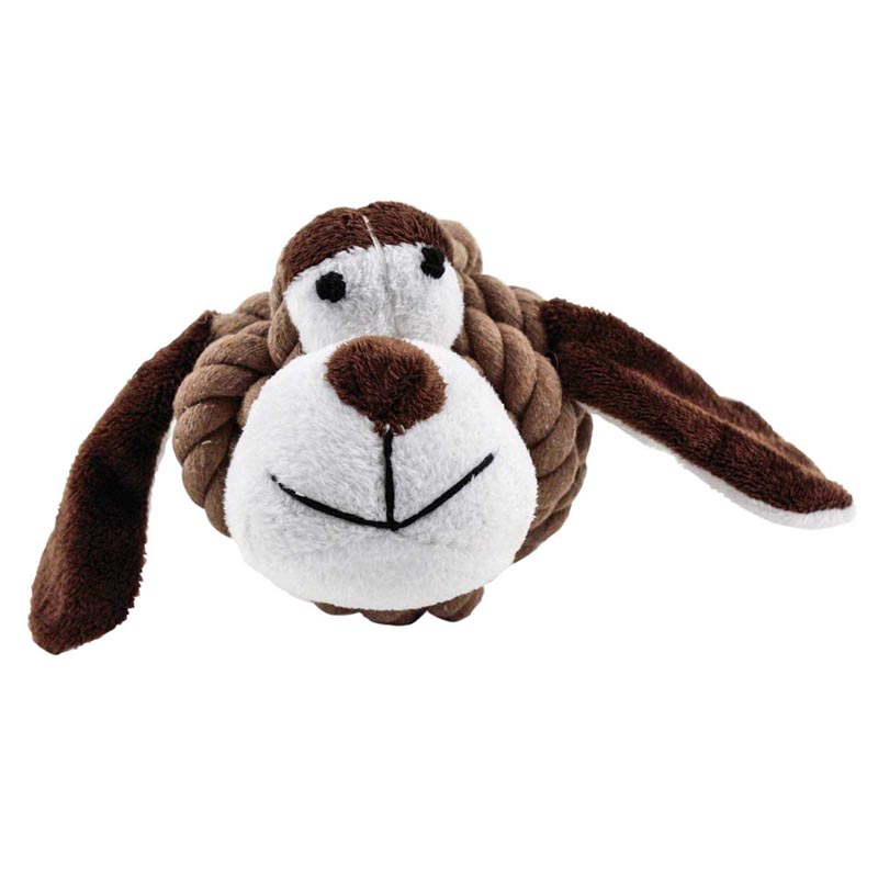 Multipet Rope Head Animal Dog Toy - 4 inch