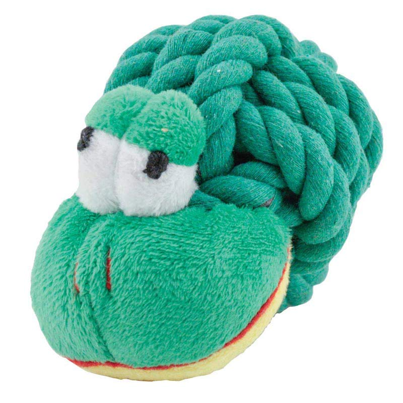 Multipet Rope Head Animal Frog Toy for Dogs 4 inch