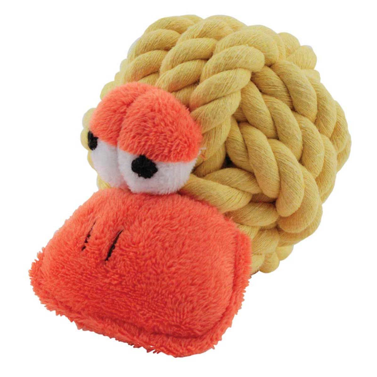 Multipet Rope Head Animal Duck Dog Toy 4 inch