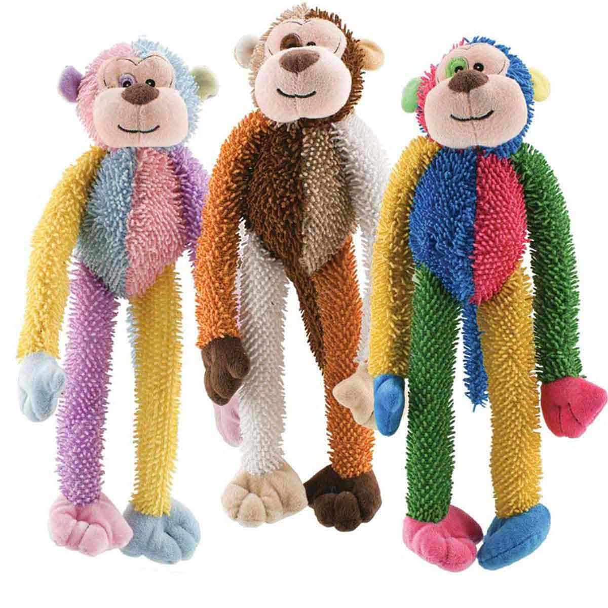Multipet Multi-Crew Monkey Toy for Dogs 17 inch