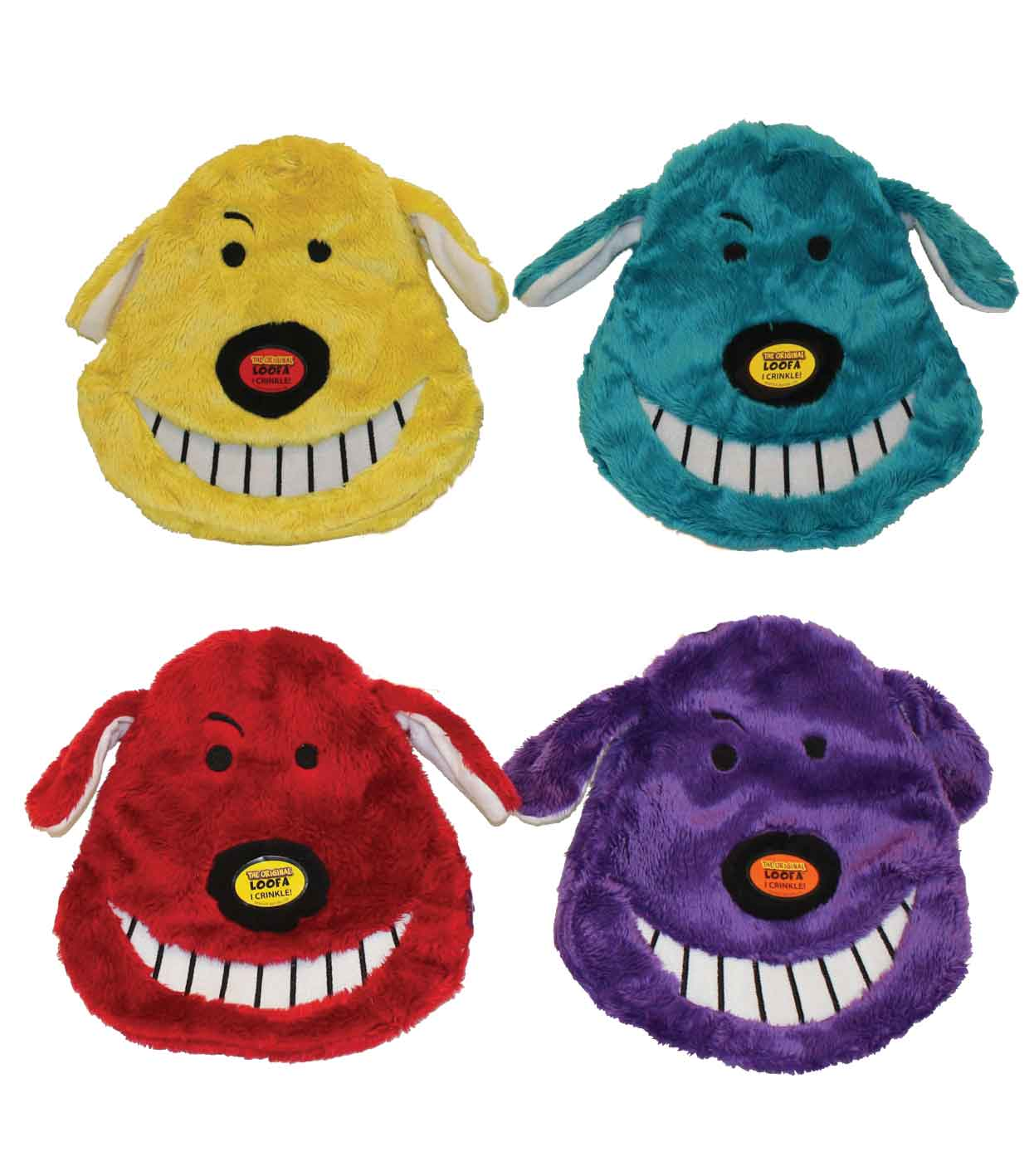 Multipet Loofa Head Dog Toy for Medium and Small Dogs - 6.5 inches