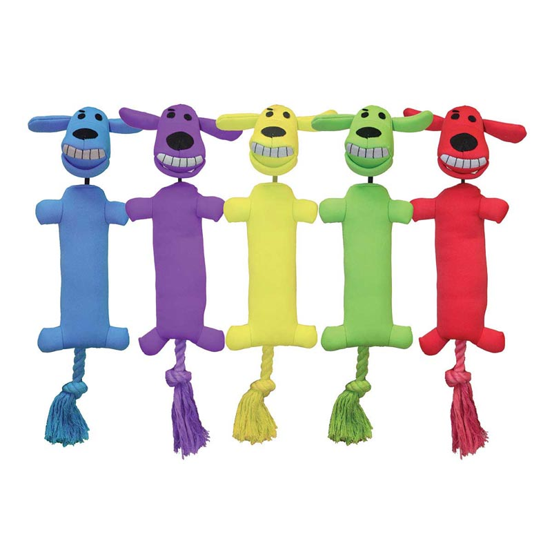 Multipet Loofa Launcher Fetch Toy for Dogs - 12 inch, Assorted Colors