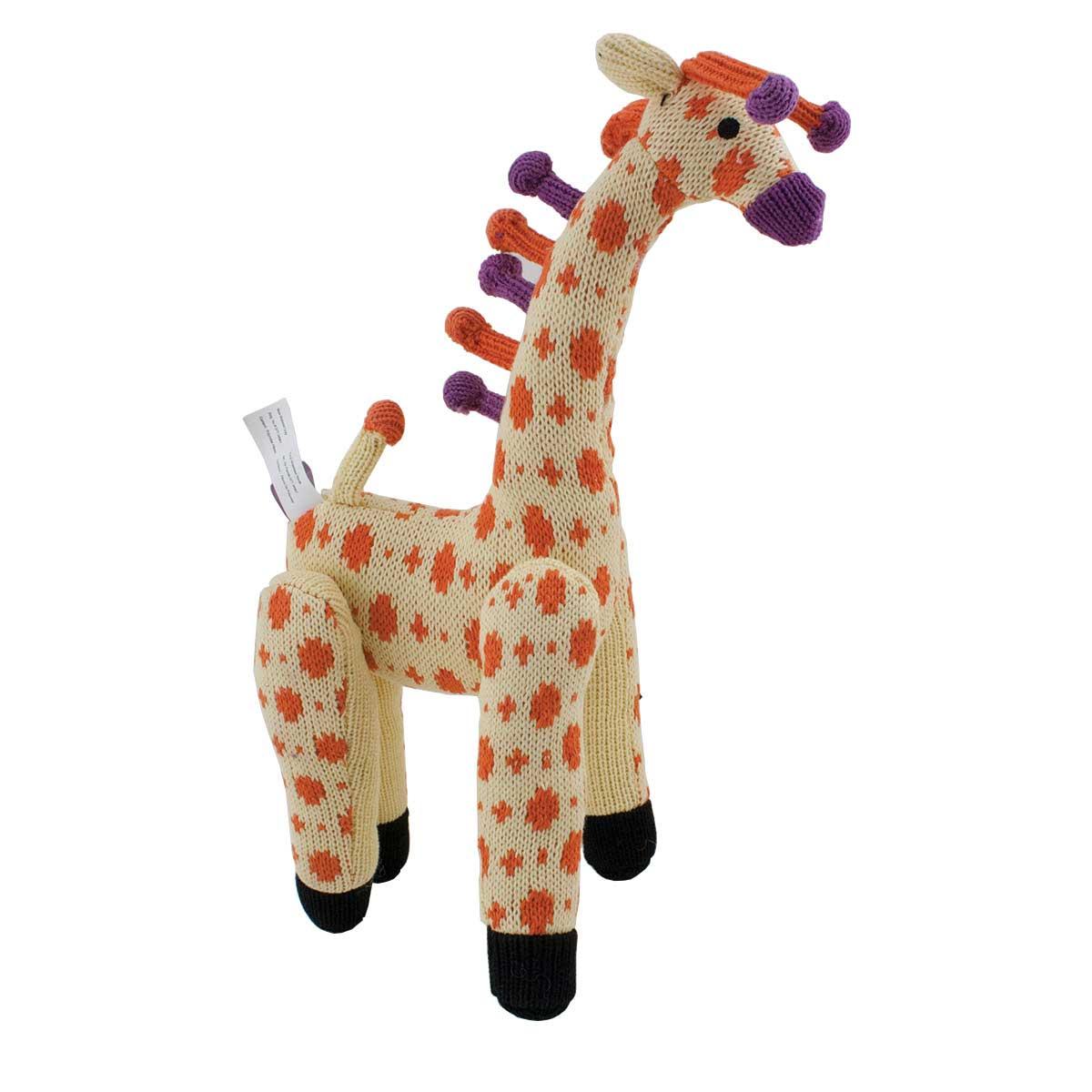 Multipet Knitted Animals Giraffe Dog Toy - 13 inch