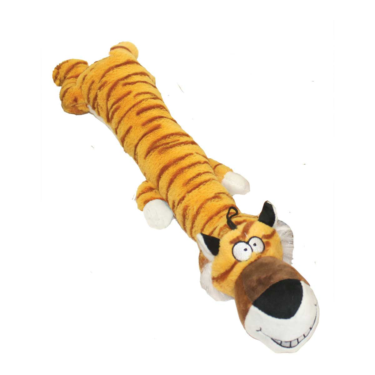 Multipet Dawdler Dude Tiger 20 inch Toy for Large Dogs
