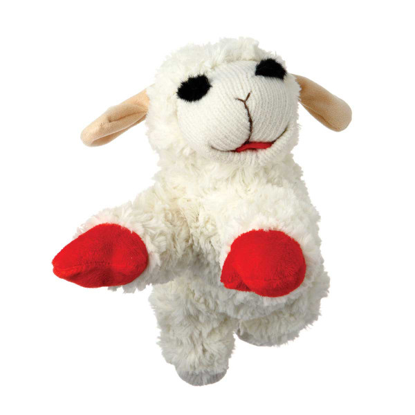 Multipet Lamb Chop Plush Toy for Small and Medium Dogs 10 inch
