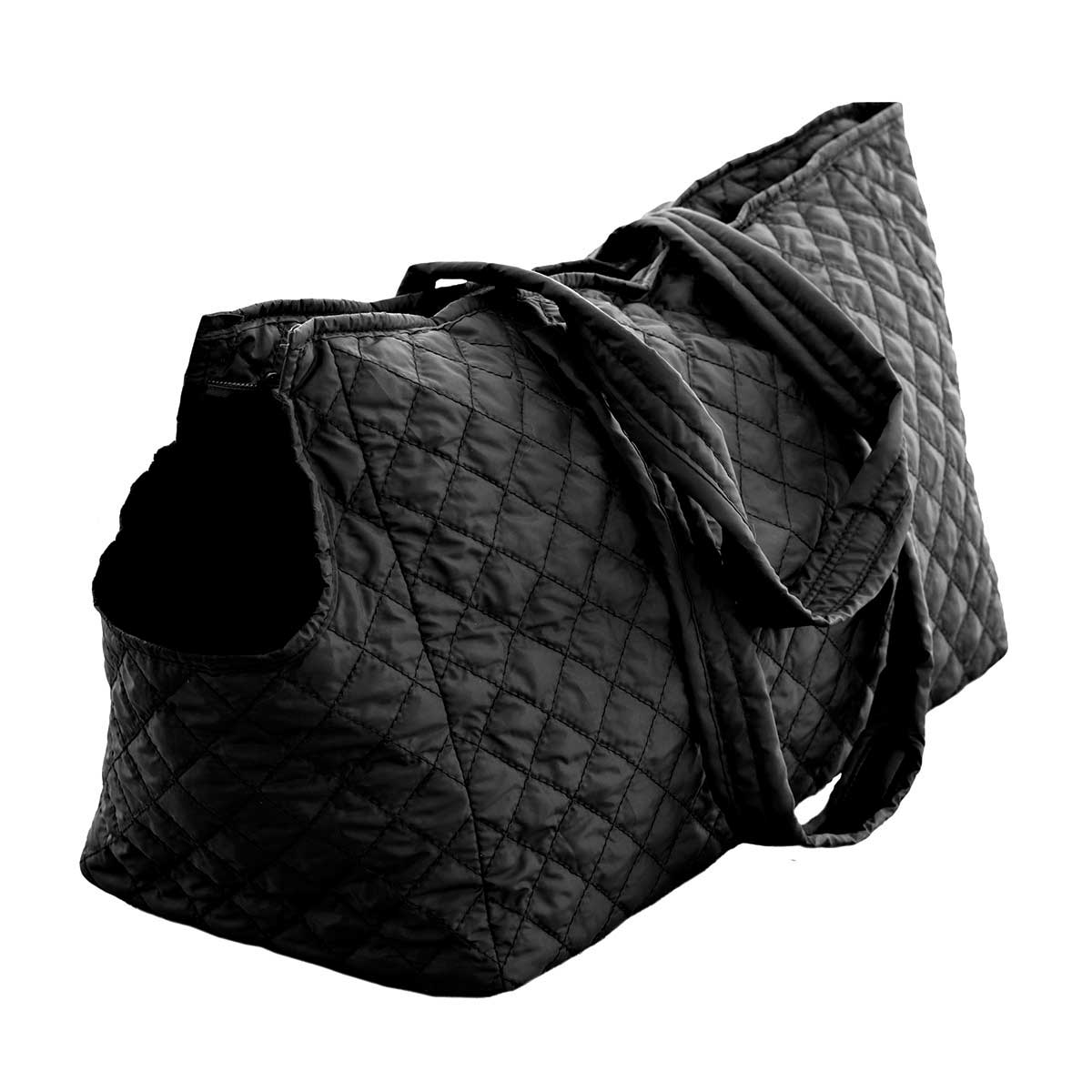 Multipet Pet Voyage Tacoma Quilted Black Tote for Cats and Dogs