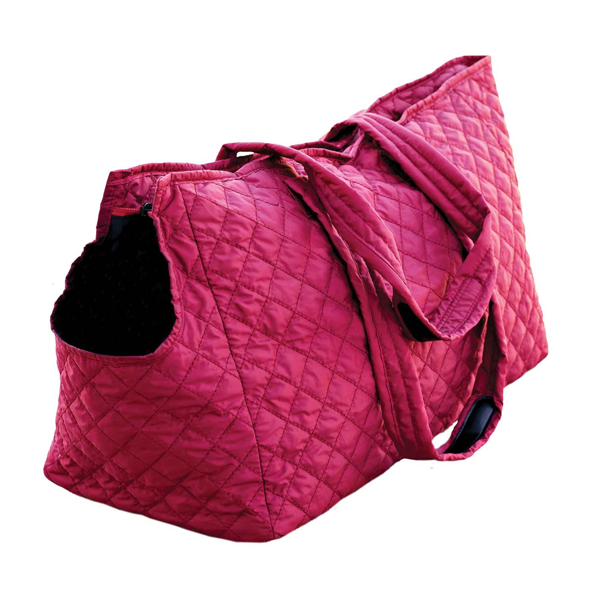 Ruby Multipet Pet Voyage Tacoma Quilted Tote available at Ryan's PEt Supplies