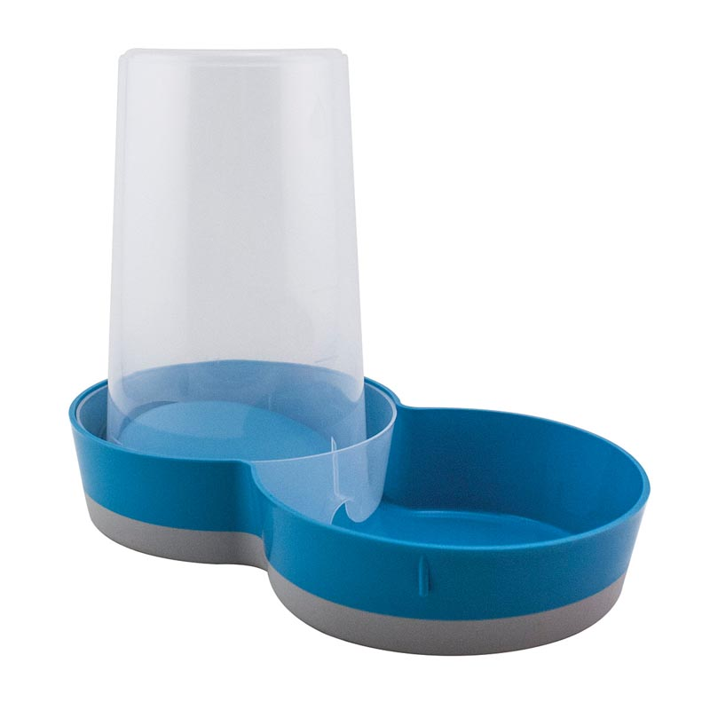 Blue Moderna Gravity Feeder Waterer 51 oz at Ryan's Pet Supplies