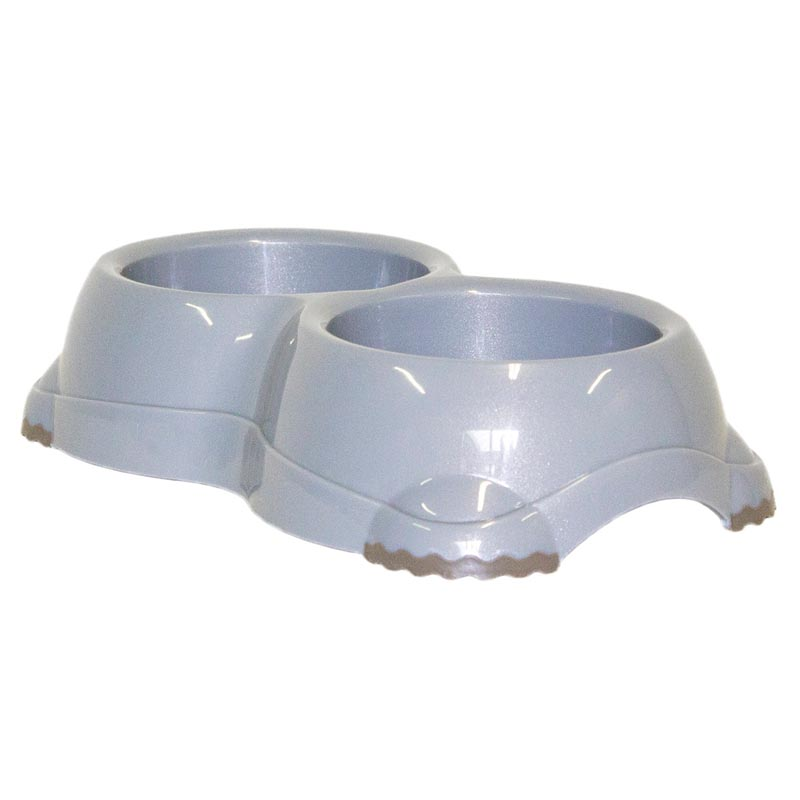 Speckled Grey Double Smarty Dog Bowl Dog from Moderna - 2 2.7 Cup Capacity at Ryan's Pet Supplies