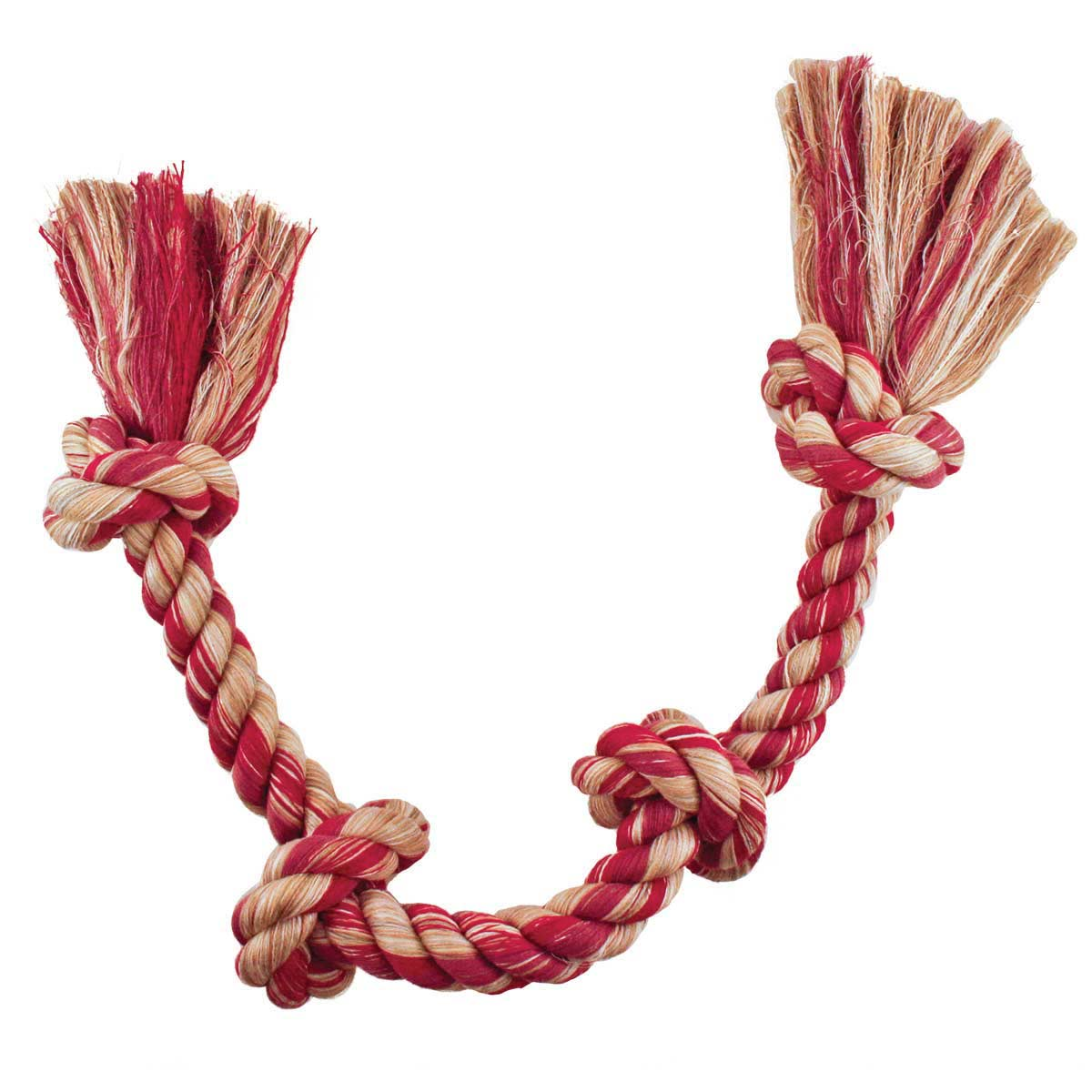 Mammoth Medium 4 Knot Colored Rope Bone - Assorted Colors