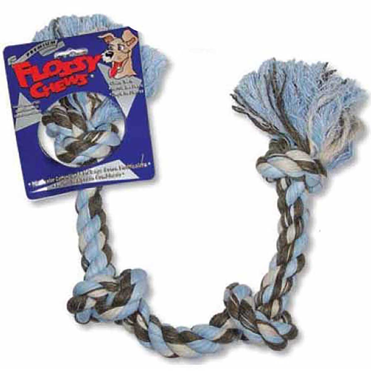 Mammoth Large 4 Knot Colored Rope Tug Toy for Dogs - 27 inch