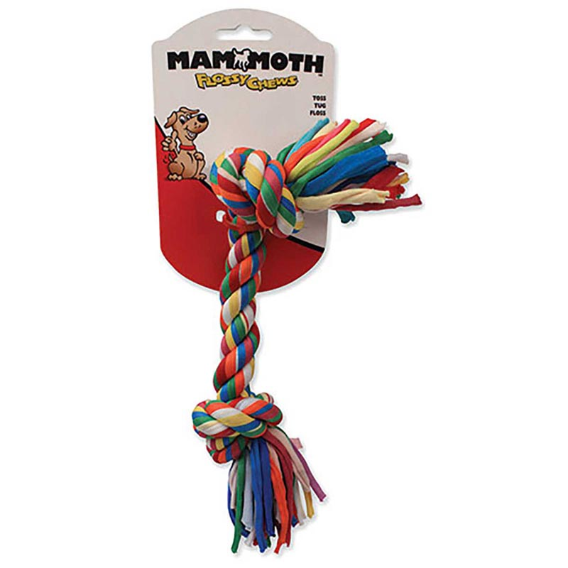 Large 14 inch Mammoth Flossy Chew Cloth Rope Bone Toy