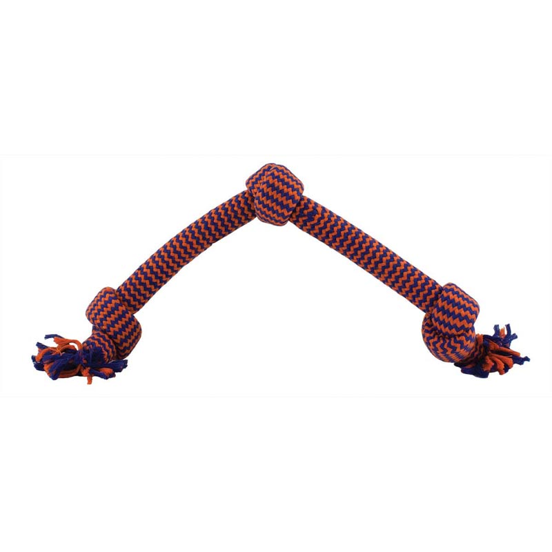 "Mammoth Flossy Chews Medium 20"" Extra 3 Knot Tug With Z-Core"