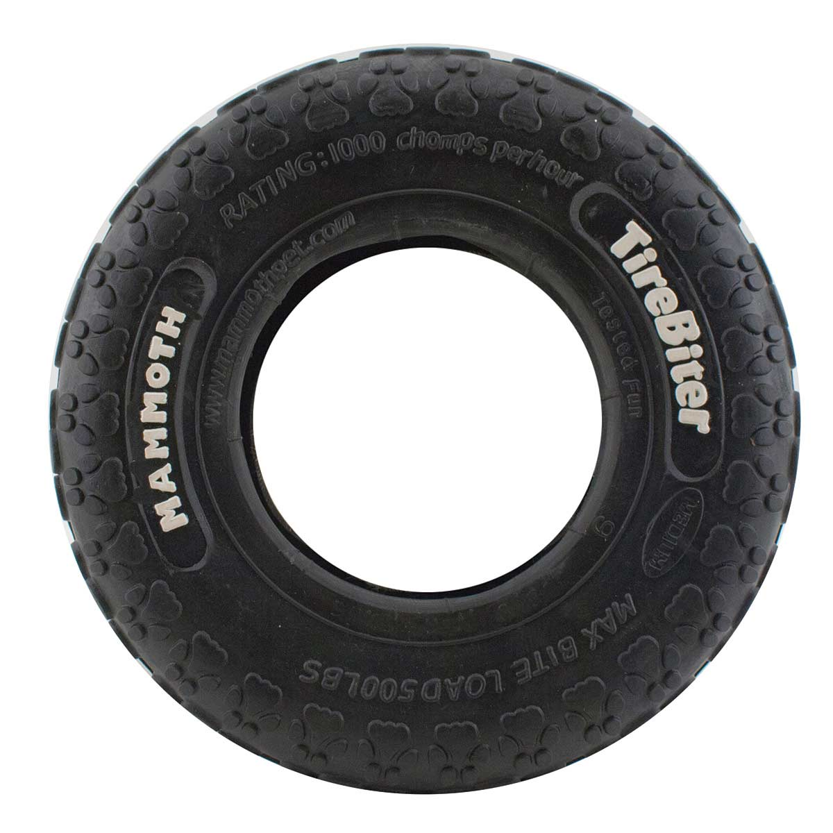 Mammoth Tirebiter Tire Mini PawTrack Dog Toy - 3.5 inch
