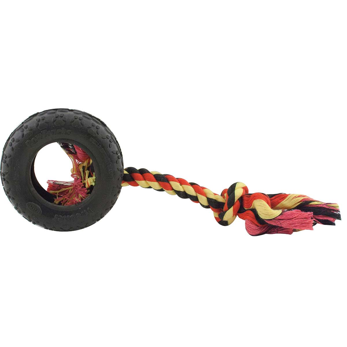 Mammoth TireBiter Medium Tire With Rope Dog Toy - 8 inch