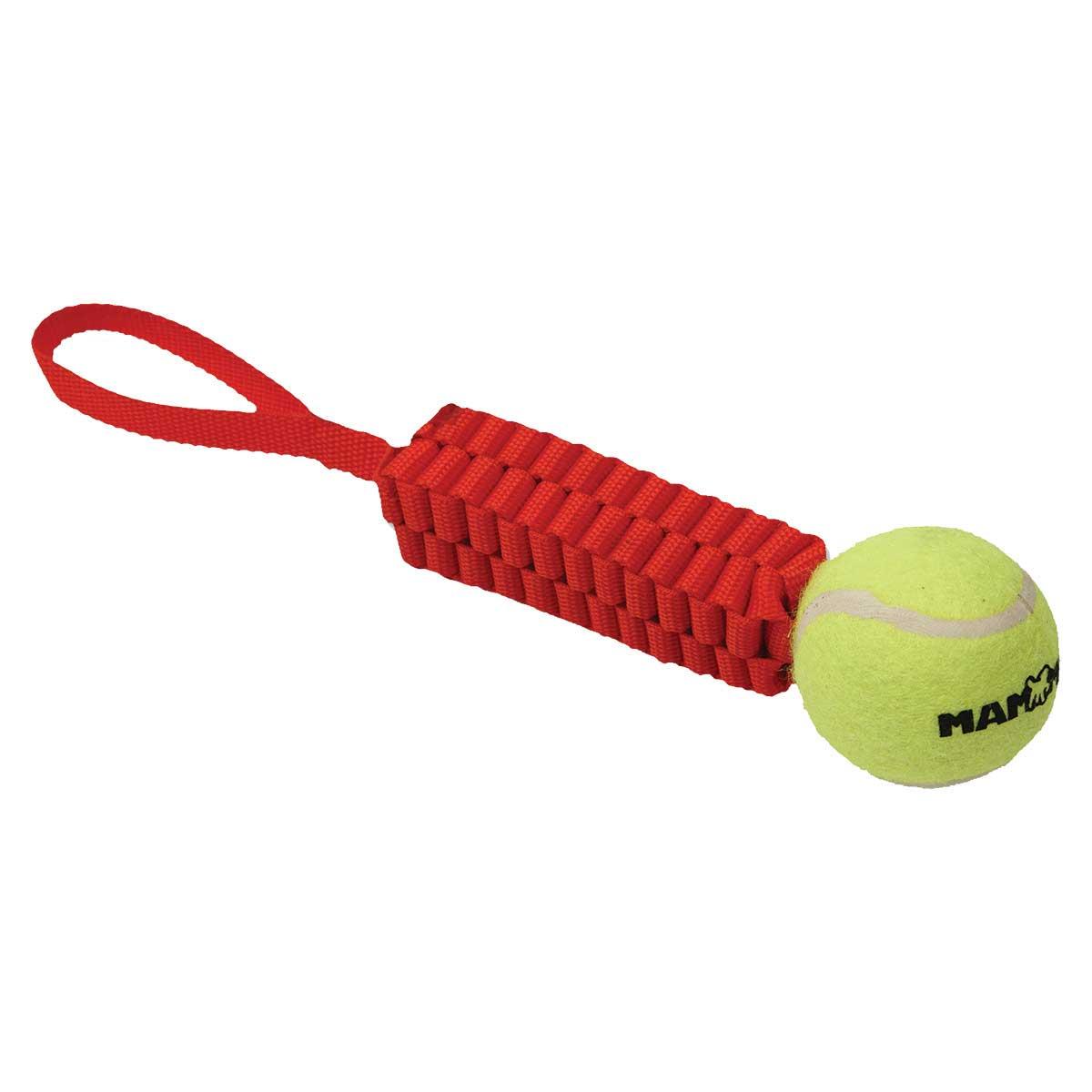 Mammoth Gnarlys with Tennis Ball Fetch Dog Toy - 11 inch