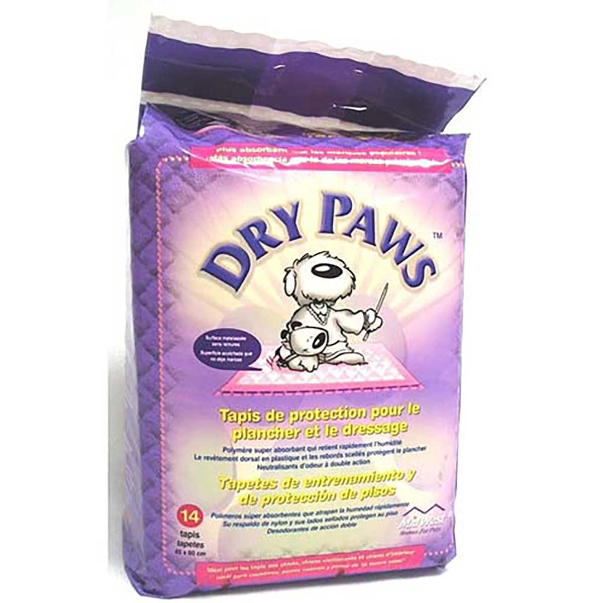 Dry Paws Large Puppy Training Pads - 23.5 inches by 29.5 inches - 14 Pads