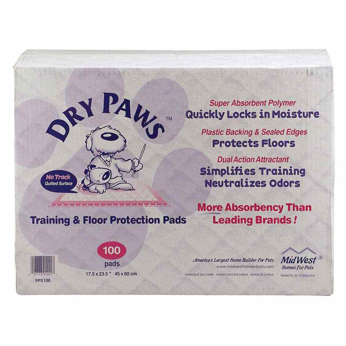 100 Pack Dry Paws Puppy Elimination Pads - 23 inches by 24 inches