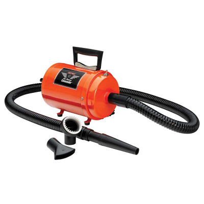 Orange Metro Air Force Commander Variable Speed Dryer for Professional Dog Grooming