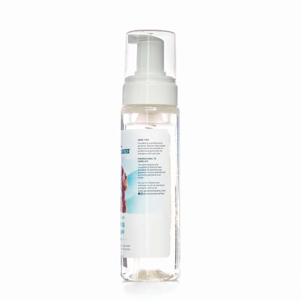 Left side of Nature's Specialties Cherry Blossom Waterless Foam Shampoo 7.5 oz