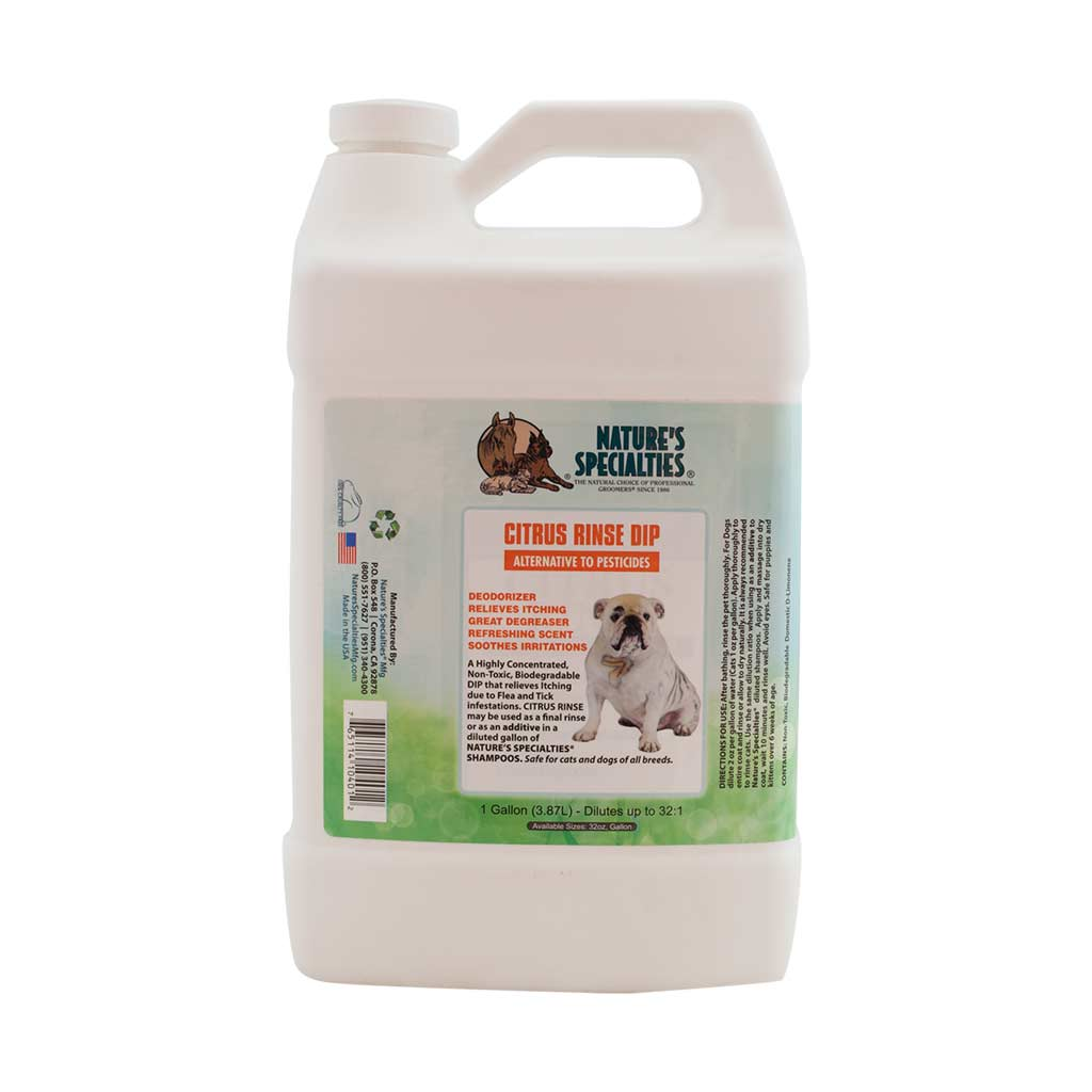 Gallon of Natures Specialties Flea and Tick Citrus Rinse Dip for Dogs and Cats