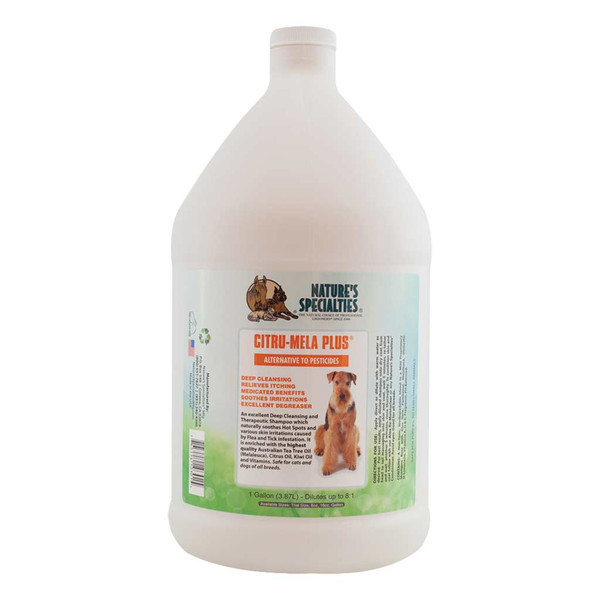 Gallon of Natures Specialties Citru-Mela Plus Shampoo for Cats and Dogs