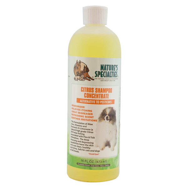 16 oz Natures Specialties Citrus Itch Relief Pet Shampoo