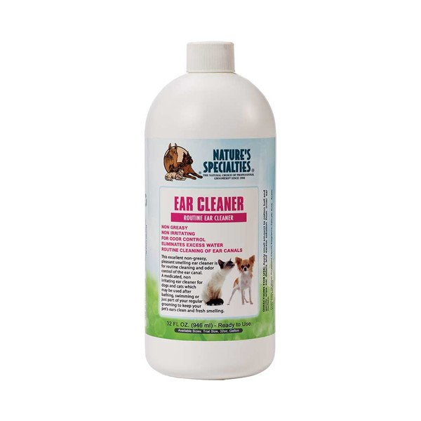 32 oz Natures Specialties Ear Cleaner for Cats, Dogs, Kittens, and Puppies