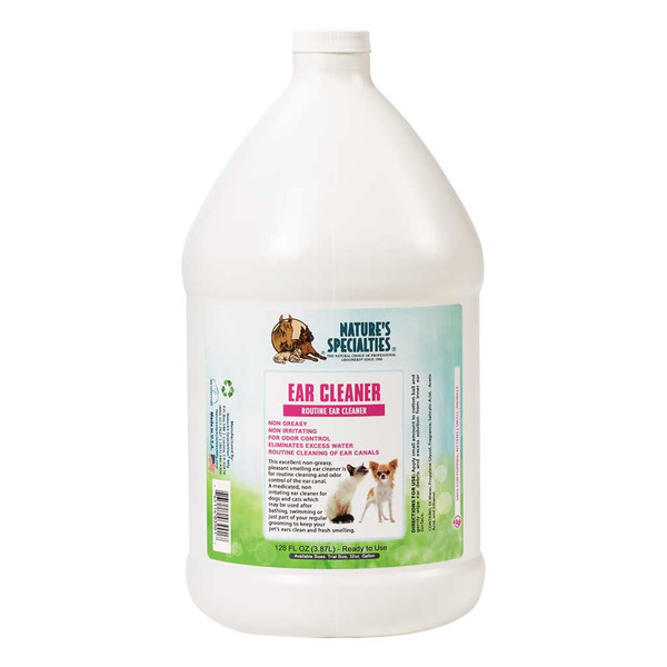 Gallon of Natures Specialties Ear Cleaner for Cats and Dogs