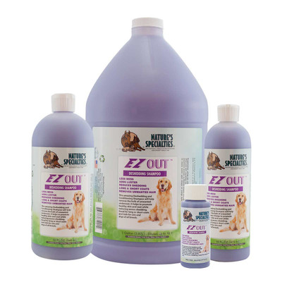 Natures Specialties EZ OUT Deshedding Shampoo for Pets