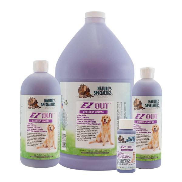 Natures Specialties EZ OUT Deshedding Shampoo for Pets