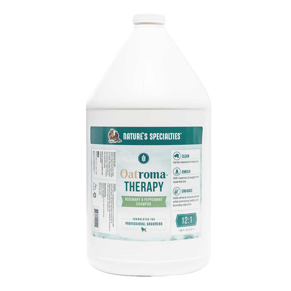 Gallon of Nature's Specialties Oatroma-Therapy Rosemary & Peppermint Shampoo