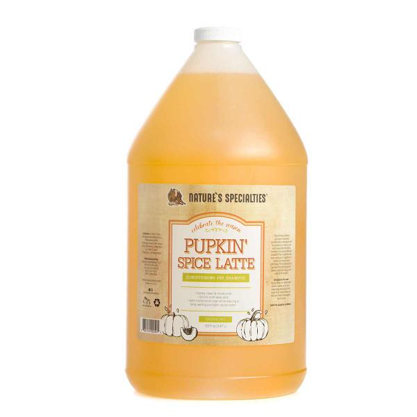 Gallon of Nature's Specialties Pupkin Spice Latte Shampoo