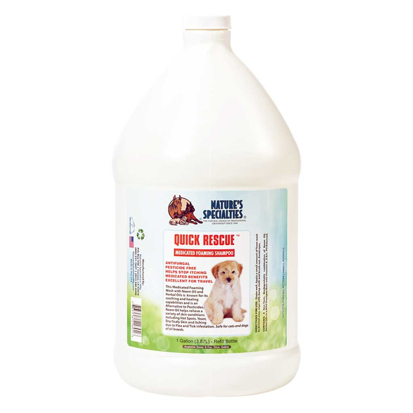 Natures Specialties Gallon of Quick Rescue Foaming Wash for Itch Relief