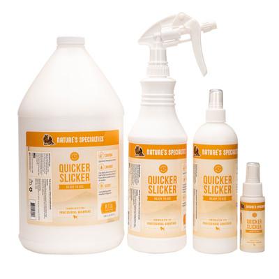 RTU Natures Specialties Quicker Slicker Spray for brushing dogs