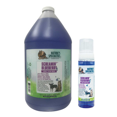 Natures Specialties Screamin Blueberry Facial Wash for Dogs