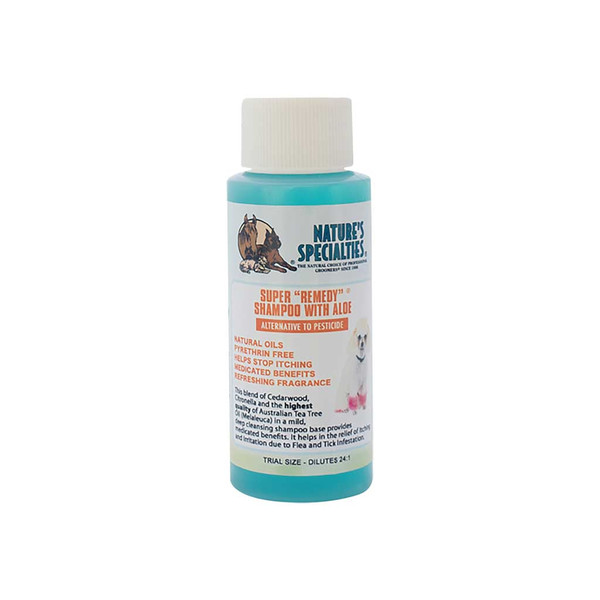2 oz Aloe Super Remedy Dog Shampoo from Natures Specialties