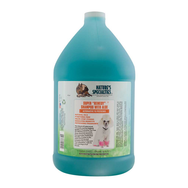 Gallon of Aloe Super Remedy Dog Shampoo from Natures Specialties