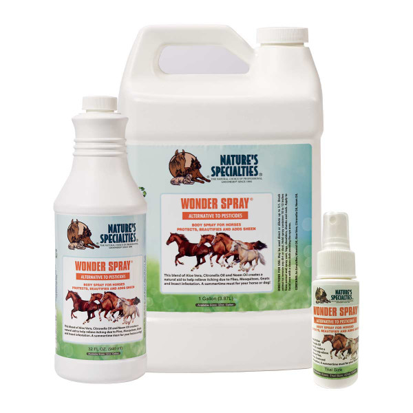 Naturally repel fleas, ticks, etc with the Natures Specialties Wonder Spray for pets