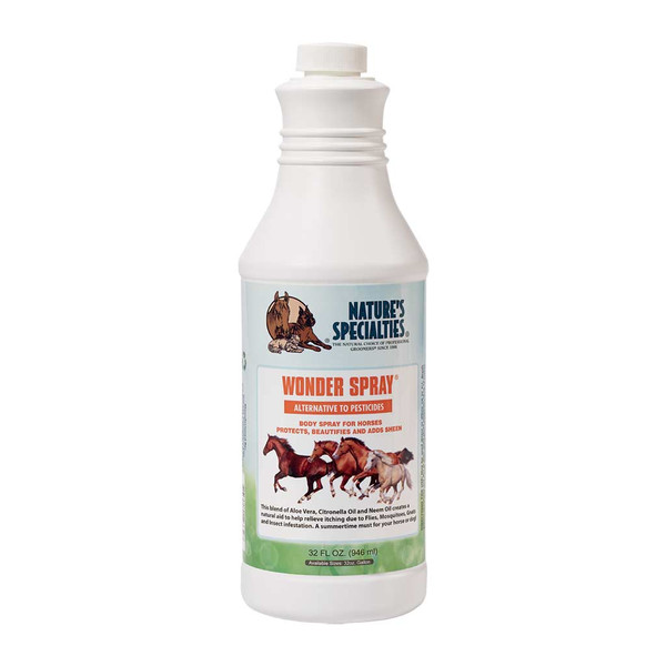32 oz Natures Specialties Wonder Spray for Horses, Dogs, and Cats
