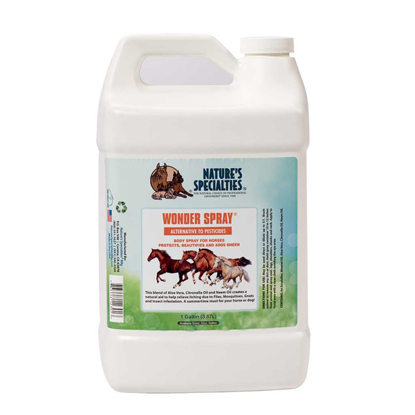 Gallon of Natures Specialties Wonder Spray for Cats, Dogs, and Horses