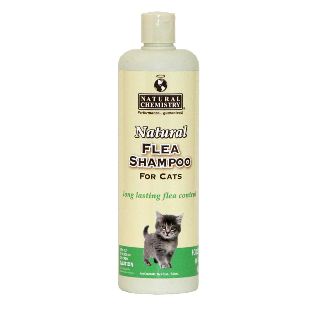 16 oz Natural Chemistry Natural Flea & Tick Shampoo For Cats - Long Lasting Flea Control