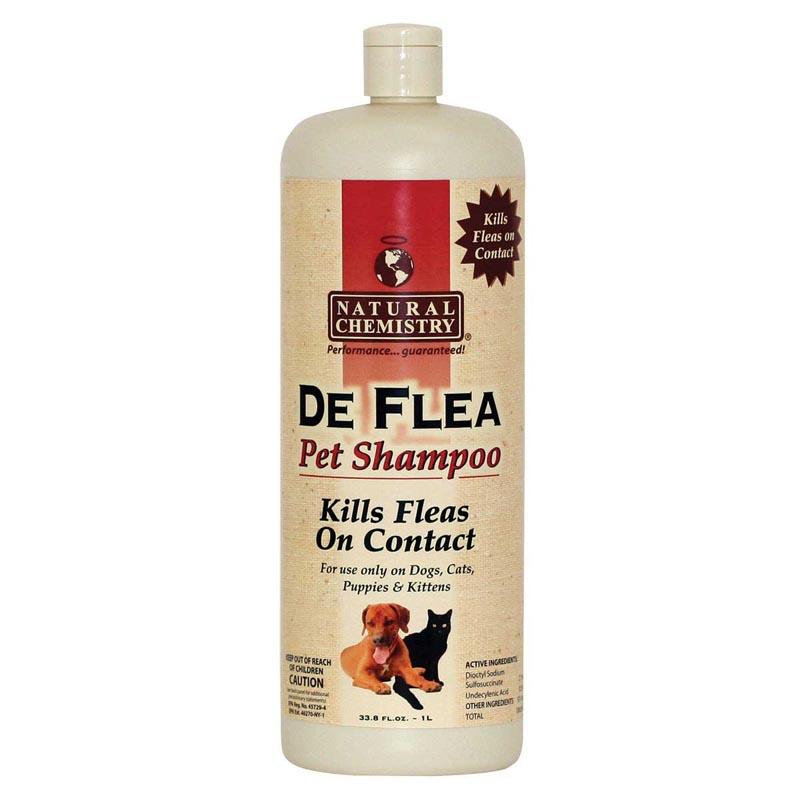 Natural Chemistry Deflea Pet Shampoo - Kills Fleas on Contact - 33.8 oz