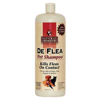 Natural Chemistry Deflea Pet Shampoo - Kills Fleas on Contact - 33.8 oz
