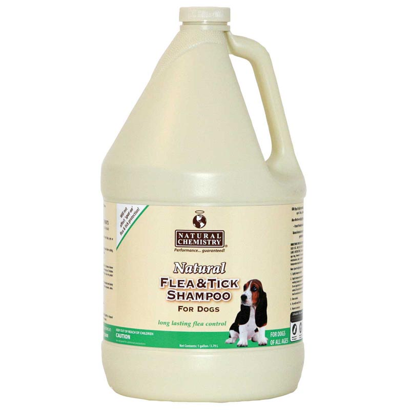 Natural Chemistry Natural Flea & Tick Shampoo for Dogs - Gallon Ready to Use