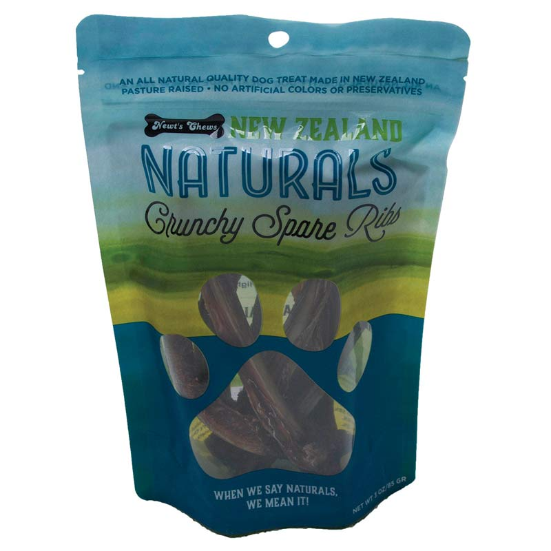 New Zealand Naturals Crunchy Spare Ribs 3 oz Treat Pouch