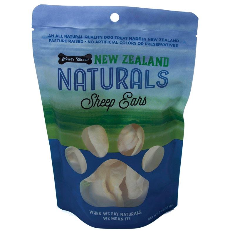 Newt's Chews New Zealand Sheep Ears 2 oz Treat Pouch