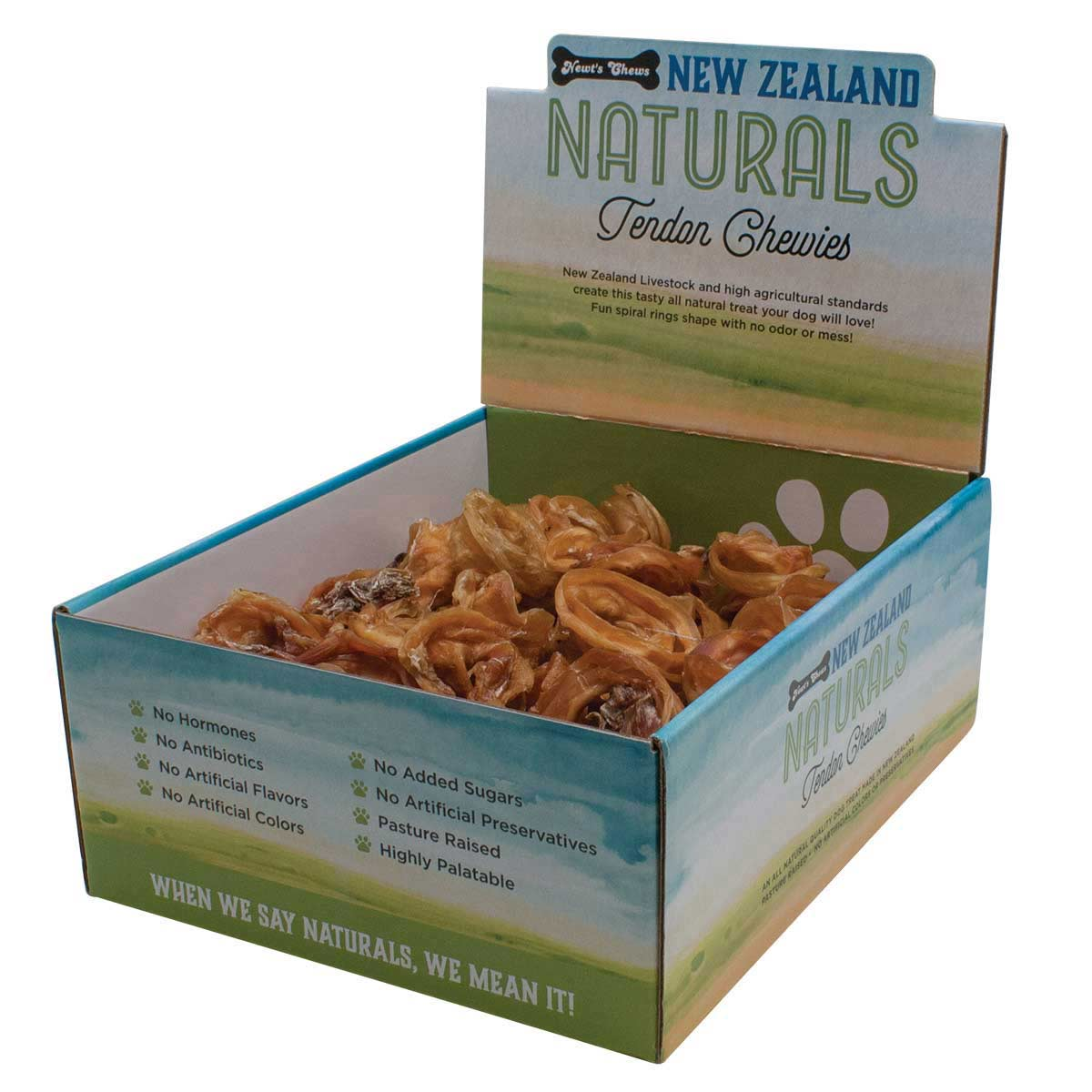 New Zealand Naturals Tendon Chewies Display Box 75 Count
