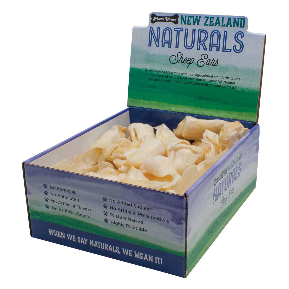 New Zeland Naturals Sheep Ears Display Box 50 Count