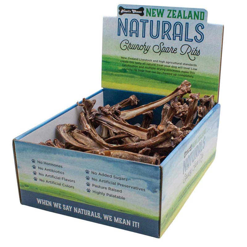 New Zealand Naturals Crunchy Spare Ribs Display Box 50 Count